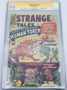 Strange Tales 121 1964 Cgc 7.5 Ss Signature Series Signed Stan Lee Avengers