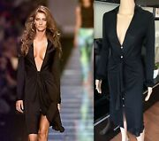 Gianni Versace Runway Ss 2000 Plunging Neckline Dress Gown Iconic Collectible