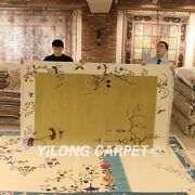 Yilong 5.5and039x8and039 Classic Hand Knotted Wool Rug Chinese Art Deco Woolen Area Carpet