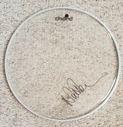 Nick Mason 'pink Floyd ', Hand Signed In Person 15 Clear Drum Skin.