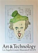 Claes Oldenburg Art And Technology Lithograph 1971 Lacma Hand-signed Pencil