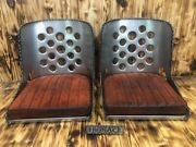 Builder Special - Iron Ace 17 Hot Rod Rat Rod Bomber Seats W/ Cushions