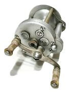 Vintage Antique Estate Early Pflueger Nobby No 1963 Cast Fishing Reel Spool Old