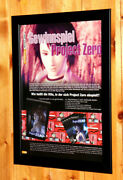 Fatal Frame / Project Zero Rare Small Poster / Vintage Ad Page Frame Ps2 Xbox