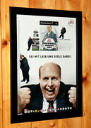 2003 Total Club Manager 2004 Rare Small Poster / Vintage Ad Page Frame Xbox Ps2