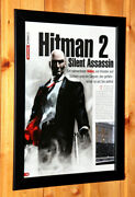 Hitman 2 Silent Assassin Small Poster / Vintage Ad Page Frame Xbox Ps2 Gamecube