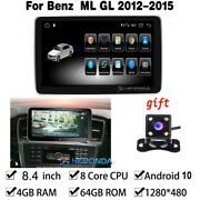 Android 10 Car Gps Touch Screen 64gb Bt For Mercedes Benz Ml Gl Class 2012-2015