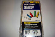 285pc Ribbed Anchor Screws Assortment Mirrors Drywall Picture Hanging Farm Home