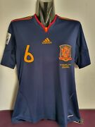 Andres Iniesta Shirt Spain World Cup 2010 / Match Un Worn - Player Issue New