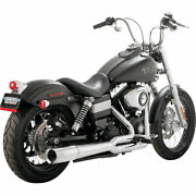 Vance And Hines Chrome Pro Pipe Exhaust For 2012-2017 Harley Dyna Models