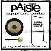 Paiste Symphonic Gong On Square Stand With Mallet Combos