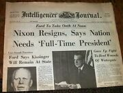 Nixon Resigns August 9, 1974 Newspaper 2001 Very Collectible -