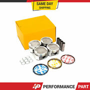 Pistons With Rings @std Fit Toyota Camry Solara 2.2l 5sfe Dohc 16v