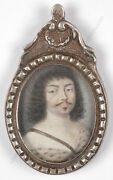 King Louis Xiii As Adonis French Miniature 1st Half Of The 17th Century