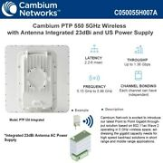 Cambium Ptp 550 Integrated 5ghz 23dbi Antenna Point To Point W/ Us Power Supply