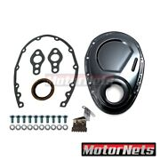 Black Sbc Small Block Chevy Timing Chain Cover Kit 327 350 383 400 Gasket Seal
