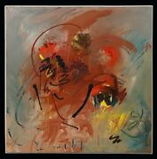 Mid Century James E Pearson Abstract Expressionism Oil Painting Abstraction Art