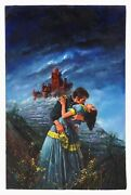 Louis Marchetti The Red Castle Women Oil Painting Book Illustration Mysterious