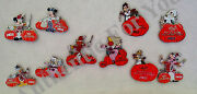Disney Parks 2014 Mnsshp Halloween Party Full Set 10 Le Trading Pins + Chasers
