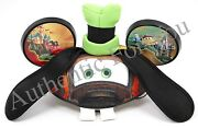 New Disney Parks Cars Tow Mater As Goofy Ear Hat Cap - Rare - Hard To Find
