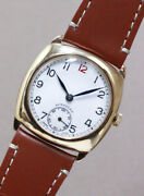 Longines Cushion Style Cal.12.68z 9k Yellow Gold Case 30.2mm Manual Wind 1940and039s