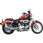 Paughco Chrome 1-3/4 Side-by-side Upsweep Fishtail Exhaust 2014-19 Harley Xl