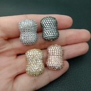 1pc15x20mm Gold Plated Cz Micro Pave Gourd Shape Loose Beads For Andnbspjewelry Making