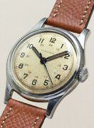 Longines Round Style 24h Dial Cal.23zs Ss Case 31.6 Mm Manual Wind 1950and039s