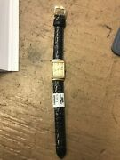 Rare Vintage Antique Le Coultre Solid 14k Yellow Gold Watch Wind Up High Grade