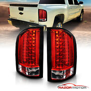 2007-2014 For Chevy Silverado 1500 2500 3500 Hd Red Led Rear Brake Tail Lights