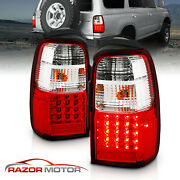 Led For 2001 2002 Toyota 4runner Red Clear Brake Tail Lights Rear Lamps Pair