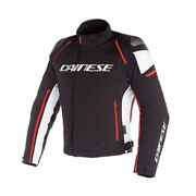 Motorcycle Jacket Dainese Racing 3 Dry Black White Red Fluo Size 46 Jacket