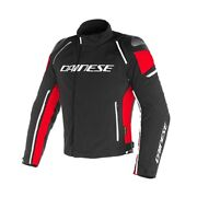 Motorcycle Jacket Dainese Racing 3 Dry Black Red Size 46 Jacket