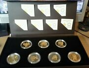 2014 Canada Set Of Seven Silver And Gold Plated Coins Seven Sacred Teachings