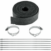 Vance And Hines Black 25and039 Exhaust Muffler Wrap Kit
