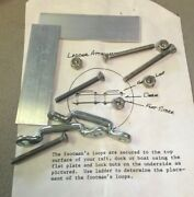 New Footmanand039s Loops Kit Including Flat Plate Loops Screws And Lock Nuts