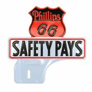 Phillips 66 License Plate Topper Metal Vintage/reproduction Advertising
