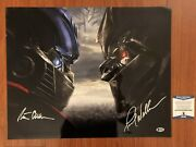Peter Cullen And Frank Welker Auto Signed 16x20 Hd Color Photo Transformers Bas