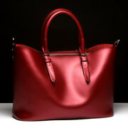 Women Leather Handbag Large Capacity Casual Bag Shoulder Bag Tote Metallic Bag