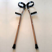 Forearm Crutches Bronze Size M Pair Walking Lightweight Adjustable Small Cuff