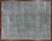 10and039 6 X 13and039 5 Overdyed Handmade Wool Area Rug - Q2370