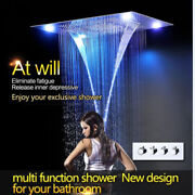 Luxury Thermostatic Shower Electric Led Multi Function Concealed Shower Head Set