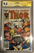 Thor 338 Cgc 9.2 3x Ss Sketched Signed Lee Simonson Shooter 2nd Beta Ray Bill
