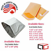 Assorted Kraft And Poly Bubble Mailers Shipping Mailing Bags Padded Envelopes