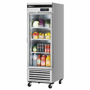 Turbo Air Tsr-23gsd-n6 27 One Section Merchandiser Refrigerator With Glass D...