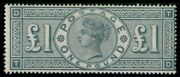 Great Britain 124 124 Andpound1 Green Og Lh Fresh And F/vf Scott 4000.00