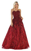 New Formal Sweetheart Prom Dress Special Occasion Evening Gown With Side Pockets
