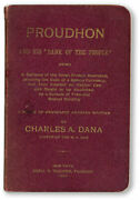Dana, Proudhon And His Bank Of The People 1st Ed 1897 Rare Benj. Tucker Anarchist