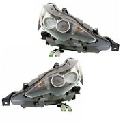 For 14-16 Is250/is350 Front Headlight Headlamp Led Head Light W/bulb Set Pair