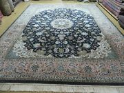 8' X10' Hand Made Fine Chinese Oriental Floral Wool Silk Rug Hand Knotted Carpet